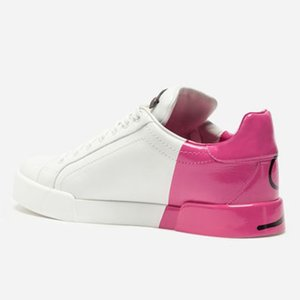 Hot Sale-ury LEATHER PORTOFINO SNEAKERS Brand Designer shoes Fashion High quality man shoes Size 38-44 Model HZH5