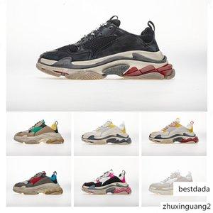 Стоимость Performance Top Оригинальный поставщик дизайнер кроссовки Париж Тройной S Черный Серый Повседневная обувь Triple-S папа обувь Дизайнерская Mens женщин