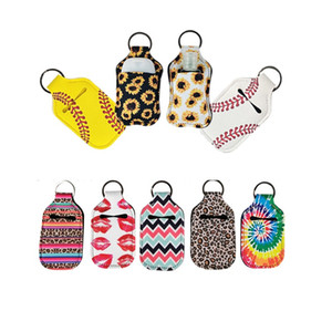 Neoprene Hand Sanitizer Bottle Holder Borse 30ML 10.3 * 6cm Portachiavi a mano portasapone bottiglia nave DHL HH9-3031 Keychain