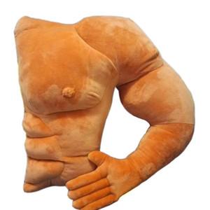 Oreillers doux musclé forme de bras de petit ami coussin dorsal grand oreiller de confort oreiller chaud cadeau d'anniversaire pour petite amie Q190429