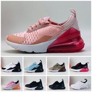 Nike air max 270 Crianças Jovens Athletic Shoes Crianças Running Shoes lobo cinzento-de-rosa da criança Esporte Tênis de Menina Menino Criança sapatos de desporto de EUR 22-35