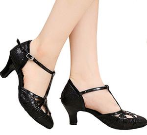 XSG Hot Latin Baotou rosso adulto morbide scarpe fondo per le donne scarpe da ballo con flash oro quadrato ballo da sala da ballo scarpe col tacco alto GB