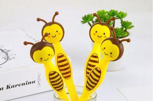 Penne gel free shippingCute Cartoon Bee Full Needle Tube Neutral Pen fornisce gfts 403-1