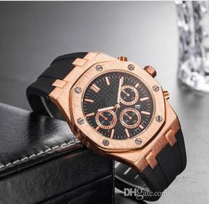 Marca para hombre relojes mecánicos Royal Oak alta calidad cristalina de lujo del diseñador de silicona correa de reloj de los hombres de las señoras de las mujeres del reloj Casual 10 estilos