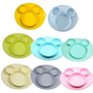 placa de silicona bebé tazón niños platos Placas de silicona bebé alimentación tazón de gel de silicona bebé vajilla niños