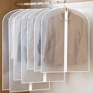 Clothes dust-proof cover dust-proof bag hanging clothes suit jacket hanging pocket household wardrobe coat cover pock