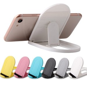 11X6.5cm Creative Lazy Folding Holder Mobile Phone Tablet Holder Promotional Company Gifts Colorful Magic Bracket With Bag 6colors Stock