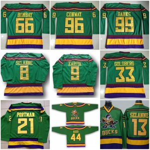 Les Mighty Ducks film 66 Gordon Bombay maillot vert 1993 Vintage Hockey 99 Adam Banks 8 Teemu Selanne 13 9 Paul Kariya 33 Greg Goldberg