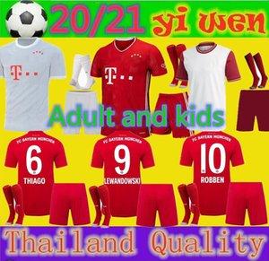 Adultos e crianças 120th 20 21 Bayern de Munique kit de Futebol LEWANDOWSKI 2020 2021 HERNANDEZ COUTINHO criança uniformes adultos Conjunto completo de Futebol