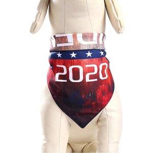 Trump Evcil Eşarp Köpekler Kediler Üçgen Eşarp 2020 Amerikan Cumhurbaşkanlığı Seçim Donald Trump Mektupları Baskılı Evcil Bandana IIA36