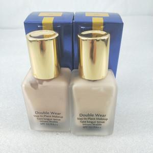 Rosto famosa maquiagem Duplo Wear líquido Foundation ficar no lugar maquiagem 30ml Nude Almofada vara Radiant Makeup Foundation 2 cores para escolher.