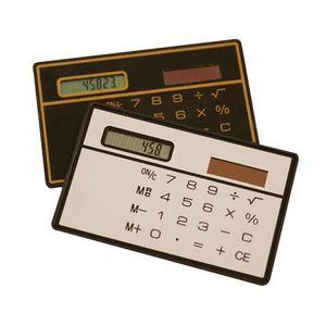 Solar Powered Calculator Slim Carta di credito economica Solar Power Pocket Calculator Novità Small Travel Compact HHY65