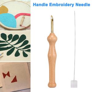 Magique Broderie Stylo Punch Aiguille Feutrage Threader Set Manche En Bois Table Cloths Craft Outils DIY À Coudre UD88