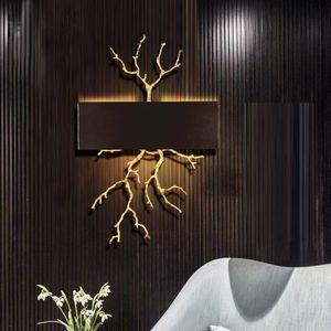 Ramos Phube Iluminação de cobre parede de luz colorida Glaze Lâmpada de parede Iluminação Hotel Sconce LED cabeceira Sconce Lighting LLFA