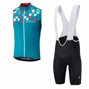 2019 Morvelo team Cycling Sleeveless jersey Vest bib short sets Hot Summer MTB Bicycle Clothing Bib Bike Clothes Sportswear K053108