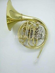 Высокое Качество Двухрядные 4 Ключ Валторна Б К Ф Мелодия Валторны С Золотой Лакированной Поверхностью Рог Музыкальный Инструмент Бесплатная Доставка