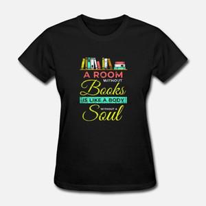 maglietta degli uomini in una stanza senza libri ha letto il libro Bookworm regalo (1) magliette t shirt Donna
