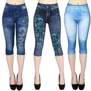 Imprimir Ladies Leggings Mulheres cintura alta Esporte Leggings Casual ao ar livre Jeans Push Up Workout Gym Leggings Mulheres casul Pants
