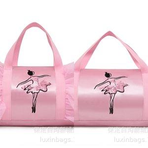 Children's Girl's Latin children's ballet diagonal shoulder Dance shoulder bag dance bag