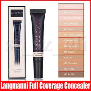 Langmanni Foundation Крем для лица маскирующее Полное покрытие Matte Base Профессиональный тон кожи Макияж Корректор для смуглой кожи 13 цветов