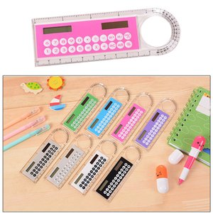 Ruler Calculator Mini Portable 10 Digits Multifunction Solar Energy Calculadora Creative Kids Gift Multicolor Student Counter Stationery