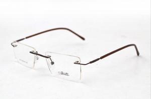 Uomini Silhouette Titanium Rimless rettangolo leggero vetri ottici della montatura occhiali da vista per le donne 49-18-138 di trasporto