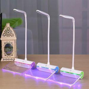 Lampes de bureau USB LED Lampe de table avec message Conseil Protection des yeux liseuse étudiant le lit de lecture Cadeaux lumière pour amoureux romantique