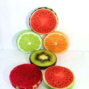 30cm 3D Meyve Koltuk Yastık Yuvarlak Atma Yastık Yaratıcı Ev Dekorasyonu Yenilik Kanepe Geri Cunshion atın