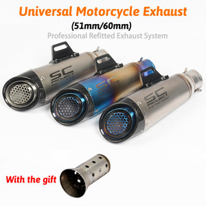 SC PROJETO Escape Moto Escape Escape Moto Modificado Marcação A Laser 51mm 61mm Silenciador Para CBR1000RR S1000RR Ninja250 R6