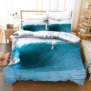Bedding Set Surfing Duvet Cover With Pillowcases Single Twin Double Full Queen King Size