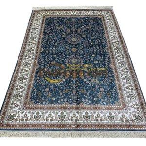 Purple Home Pavimentazione turco a mano tappeto persiano di seta naturale Area Tappeti