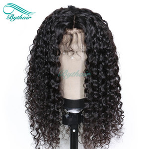 Bythair Full Lace Human Hair Wig Curly Lace Front Wig Pre-plucked Hairline Deep Curly Brazilian Virgin Hair 150% Density With Baby Hair