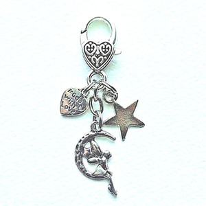 Moon Goddess Guardian Angel Star Heart Keychain Vintage Silver Wing Charm For Keys Car Key Ring Gifts Couple Handbag Key Chain Jewelry