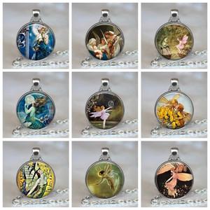 Bubble Ballet Fairy Anhänger Fairy Tale Handmade Glass Cabochon Schmuck Frauen Halskette Silberkette Weihnachtsgeschenk für Mädchen