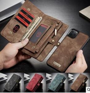 Pour l'iphone 11 cuir design luxe multi-fonctions Phone Wallet pour iPhone X XR XS MAX 7 8 cas de couverture Galaxy Note 10 S9