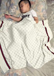 INS Bebek Battaniye Örme Pamuklu Kumaş Yaz Kalite Battaniye Yaz Plaj Halı Bej Battaniye Bebek 90 * 120 CM