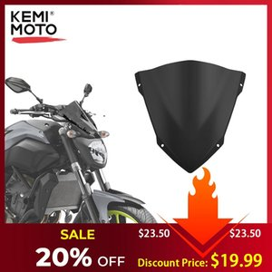 Kemimoto For Yamaha Mt07 Mt -07 Windshield Windscreen For Fz07 2014 2015 2016 2017 Wind Deflectors Motorcycle Accessories