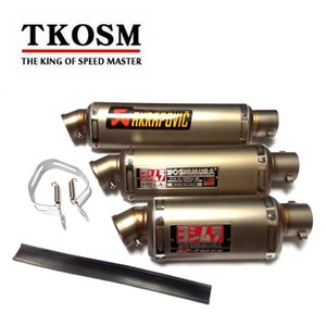Tkosm 51mm Universal Motorcycle Scooter With 3 Size Akrapovic Exhaust Muffle Pipe For R6 Cbr1000rr Cbr125 Cb250 Cb400 Cb600 Yzf Fz400 Z750