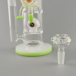 дизайн New Glass Jet Процы Heavy Eye Glass Bong барботер водопроводы пьянящие нефтяные вышки водопроводных трубы затяжки мазок Рог красочные стекла -Defect зазор