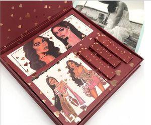 100% nova estética 5 maquiagem Coleção HAUS KJ maquiagem conjunto ESPOSA completo de alta qualidade set gloss olho sombra batom marcador maquiagem