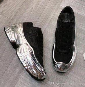 Designer Sneakers Raf Simons Oversized Sneaker Ozweego Shoe men women Luxury designer shoes in Silver Metallic effect Sole Sport Trainer a8