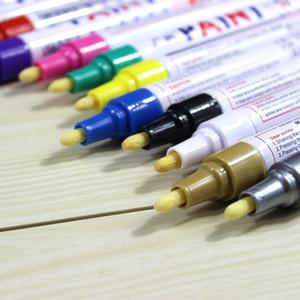 12X красочные водонепроницаемый металл постоянный маслянистая краска Pen шины автомобиля протектора CD граффити маркеры маслянистая искусство маркер ручка канцелярские