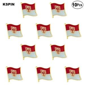 Brandenburg épinglette insigne drapeau Broche Pins Badges 10pcs Lot