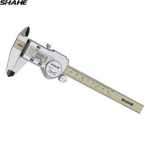 shahe Messschieber digitale Schieblehre Mikrometer digital Sattel 150 mm elektronischer Sattel paquimetro digital T200602