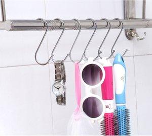 Gancho 500pcs venta caliente de acero inoxidable en forma de S para las bolsas de ropa de baño Cocina wen6498 suspensión de gancho