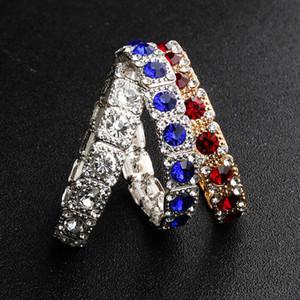 Moda diamante bridal braccialetti di design di cristallo di lusso braccialetti di gioielli da sposa per le donne accessori da sposa economici trapani ad acqua braccialetto