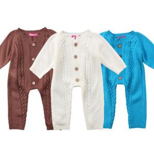 Outono menina recém-nascida bebé infantil camisola de manga longa Romper playsuit algodão roupas Outfits Roupas de bebê