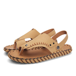 unisex sandal sport 39 leather mens breathable for slip plage water big shoes s luxury sandales sandles masculina de size 44 on