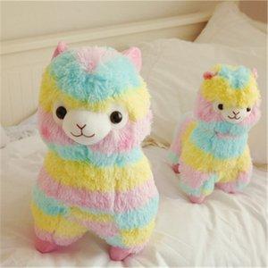 besta bonito Deus do arco-íris Alpaca boneca de pelúcia Toy 4 Tamanho Sheep animal Cor Ragdoll ecológicos presentes PP algodão Crianças