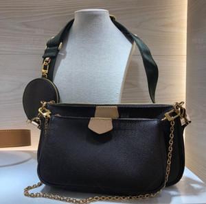 Kadınlar favori mini poşet torba 3 adet aksesuar crossbody çanta vintag omuz çantaları m44823 oksitleyici deri cüzdanlar çok renkli askıları